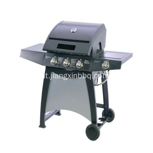 Grill a gas Nature a 3 fuochi con fornello laterale